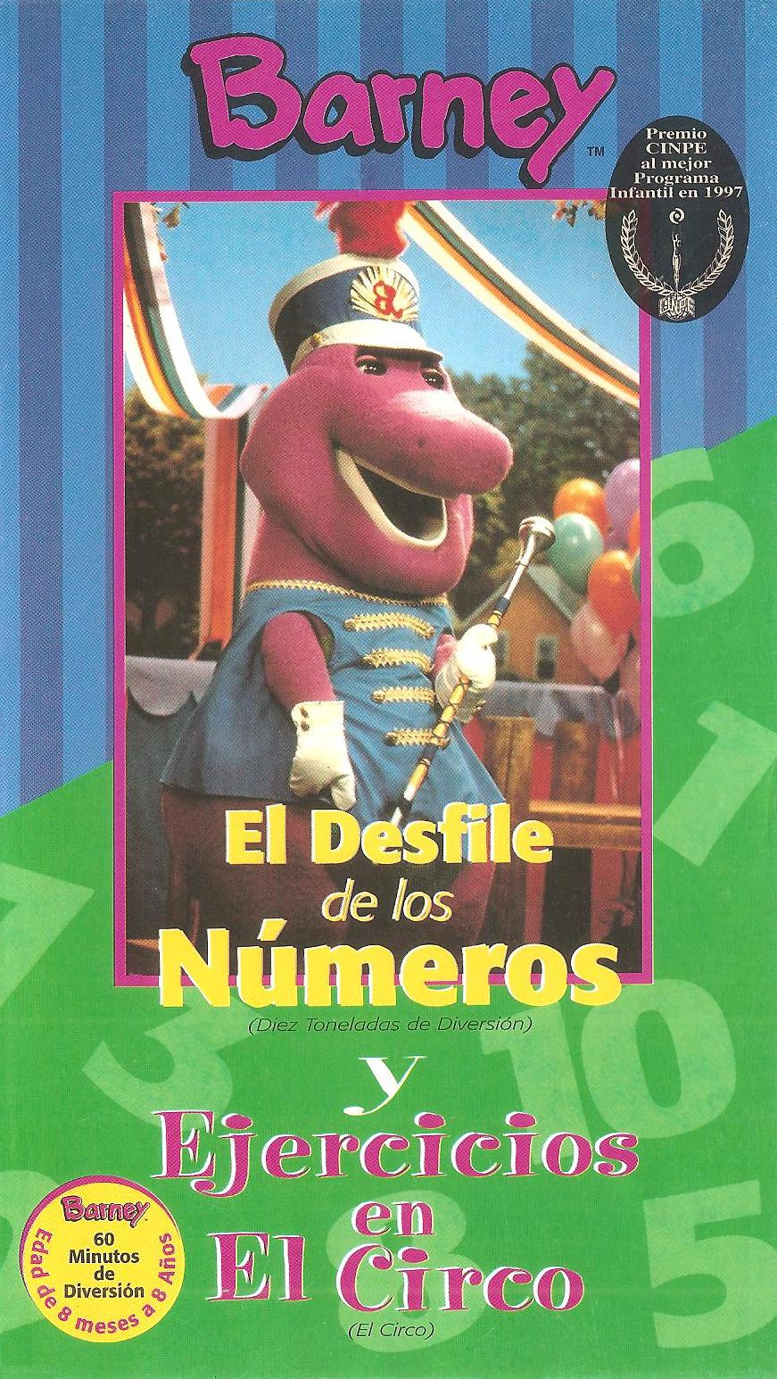 Image - Barney\'s Excercise Circus & Parade of Numbers Spanish VHS ...