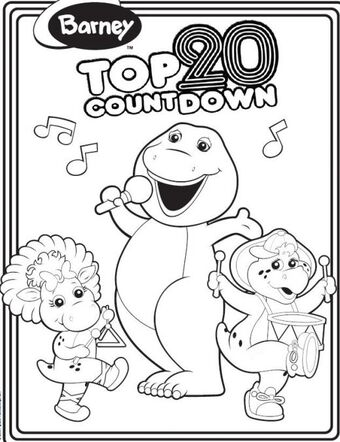 Free Printable Barney Coloring Pages For Kids | 442x340