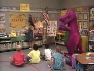 Barney Goes to School