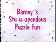 Barney's Stu-u-upendous Puzzle Fun