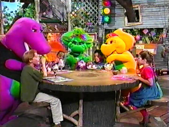 let s eat barney wiki fandom powered by wikia rh barney wikia com Barney 1995 Barney and Friends CD