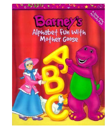 filebarneys alphabet fun with mother goose coloring bookpng - Barney Coloring Book
