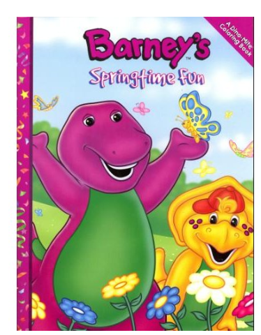 Image - Barney\'s Springtime Fun Coloring Book.png | Barney Wiki ...