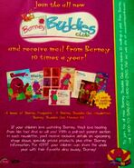 Barney buddies club promo ad 19992