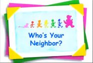 Who's Your Neighbor title card
