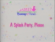 A Splash Party, Please Title Card