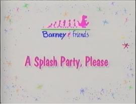 A Splash Party, Please Title Card