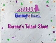 Barney's Talent Show Title Card