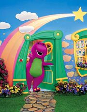 Barneys House Is The Main Setting For Some Home Videos Come On Over To Dino Dancin Tunes And Pajama Party