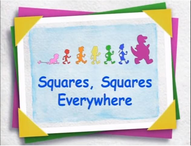 Barney Squares Squares Everywhere