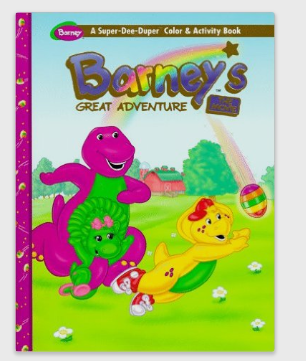 Image - Barney\'s Great Adventure Coloring Book.png | Barney Wiki ...