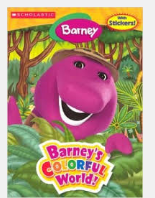 Barney Coloring Book - Barney's Colorful World!