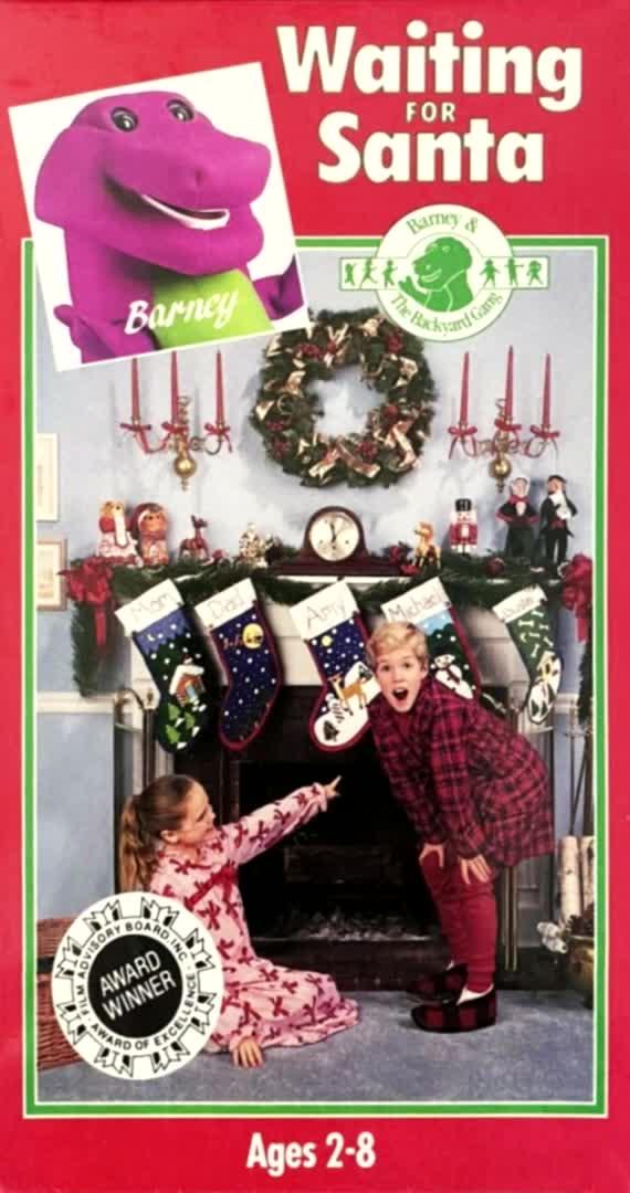 Barney Waiting For Santa Vhs 1998