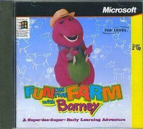 186867717 barney-fun-on-the-farm-pc-cd-rom-video-games