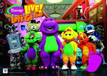 Barney Live The Lets Go Tour Barney Wiki FANDOM Powered By - Barney live in concert birthday