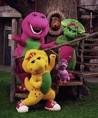 Image  Barney BJ Baby Bop Scooter McNutty and Miss Etta Kette
