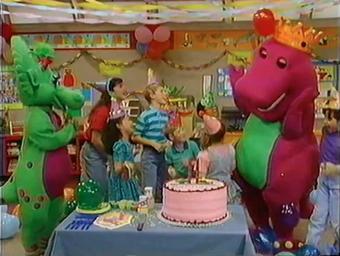 Astounding Happy Birthday Barney Barney Wiki Fandom Funny Birthday Cards Online Necthendildamsfinfo