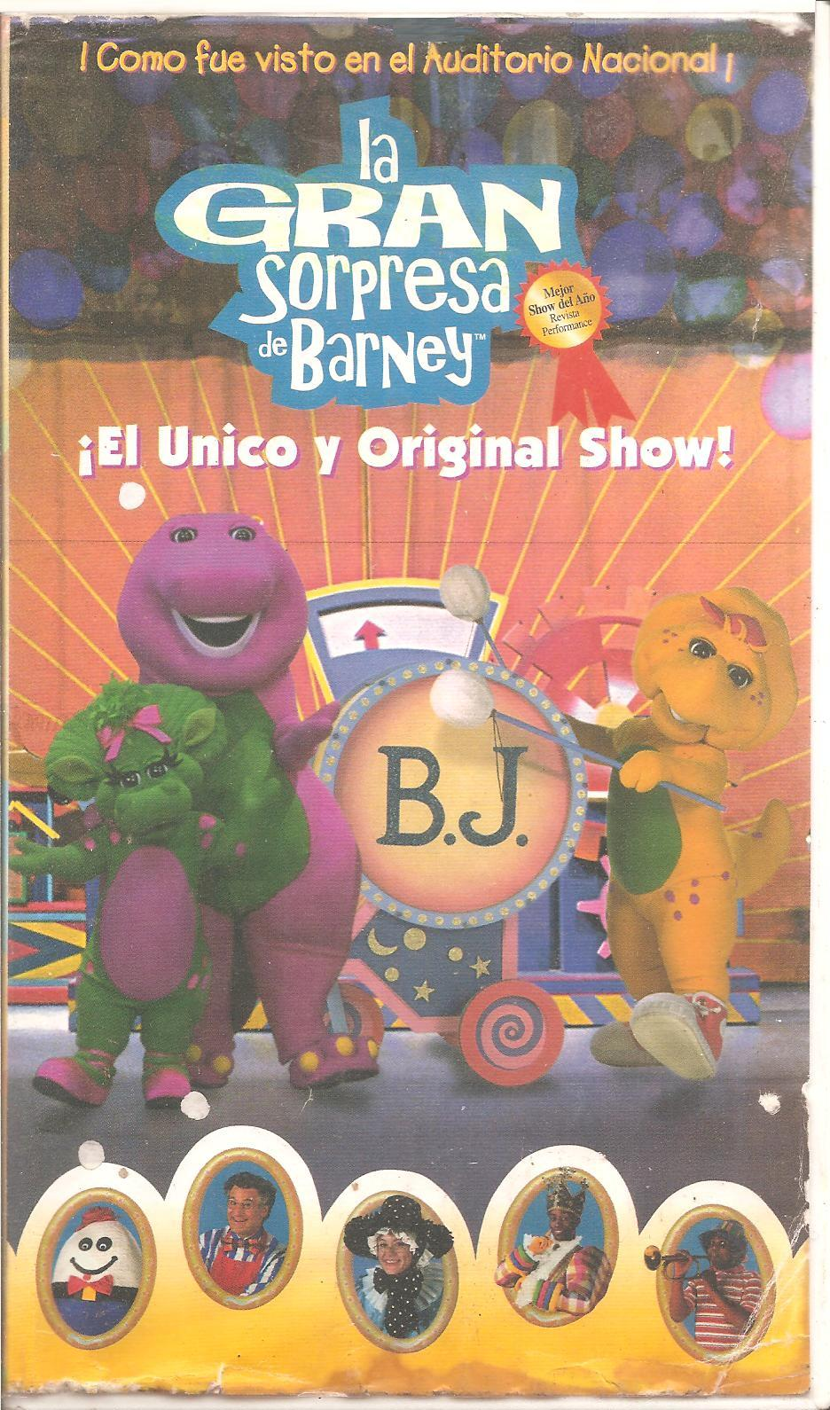 image barney u0027s big surprise spanish vhs jpg barney wiki