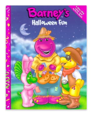 Image - Barney\'s Halloween Fun Coloring Book.png | Barney Wiki ...