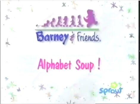 Letters Barneys Alphabet Soup   Abcforkids