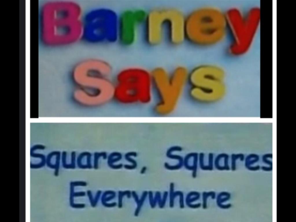 Barney Squares Squares Everywhere
