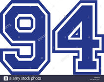 Ninety-four-college-number-94-HGHTK3