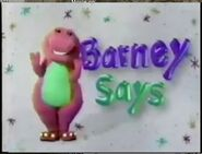The Season 3 Barney Says Segment