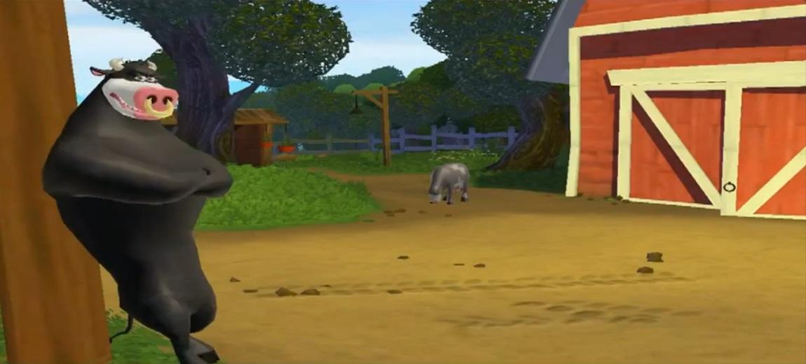 MADELINE: Back at the barnyard bull
