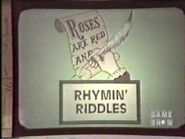 Rhymin' Riddles