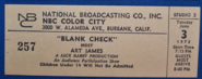 Blank Check (June 03, 1975)