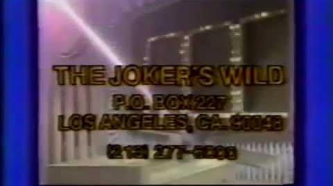 The Joker's Wild contestant ticket plug, 1985