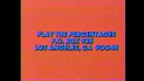 Play the Percentages contestant plug, 1980