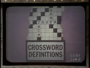 Crossword Definitions