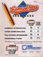 The Joker's Wild 1990 Fall Game Show Sorcard Ad