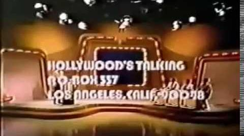 Hollywood's Talking ticket & contestant plug, 1973