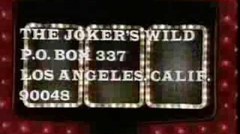 The Joker's Wild ticket plug, 1972