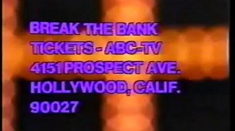 Break the Bank ticket plug, 1976