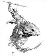 The Horibs - Pellucidar (Frank Frazetta's Illustration)
