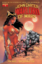 John Carter Warlord of Mars (Dynamite) 2 cover