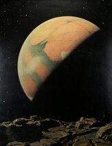 Mars as Seen from Deimos by Howard Russell Butler