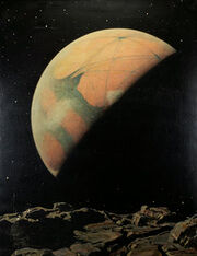Mars as Seen from Deimos by Howard Russell Butler