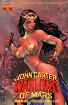 John Carter Warlord of Mars (Dynamite) 3 cover