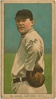 John McGraw Baseball Card