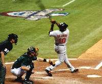 Miguel Tejada Swinging