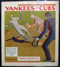 1932 World Series Program