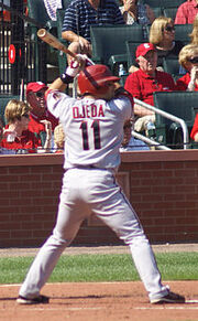 Augie Ojeda at bat in September 2008
