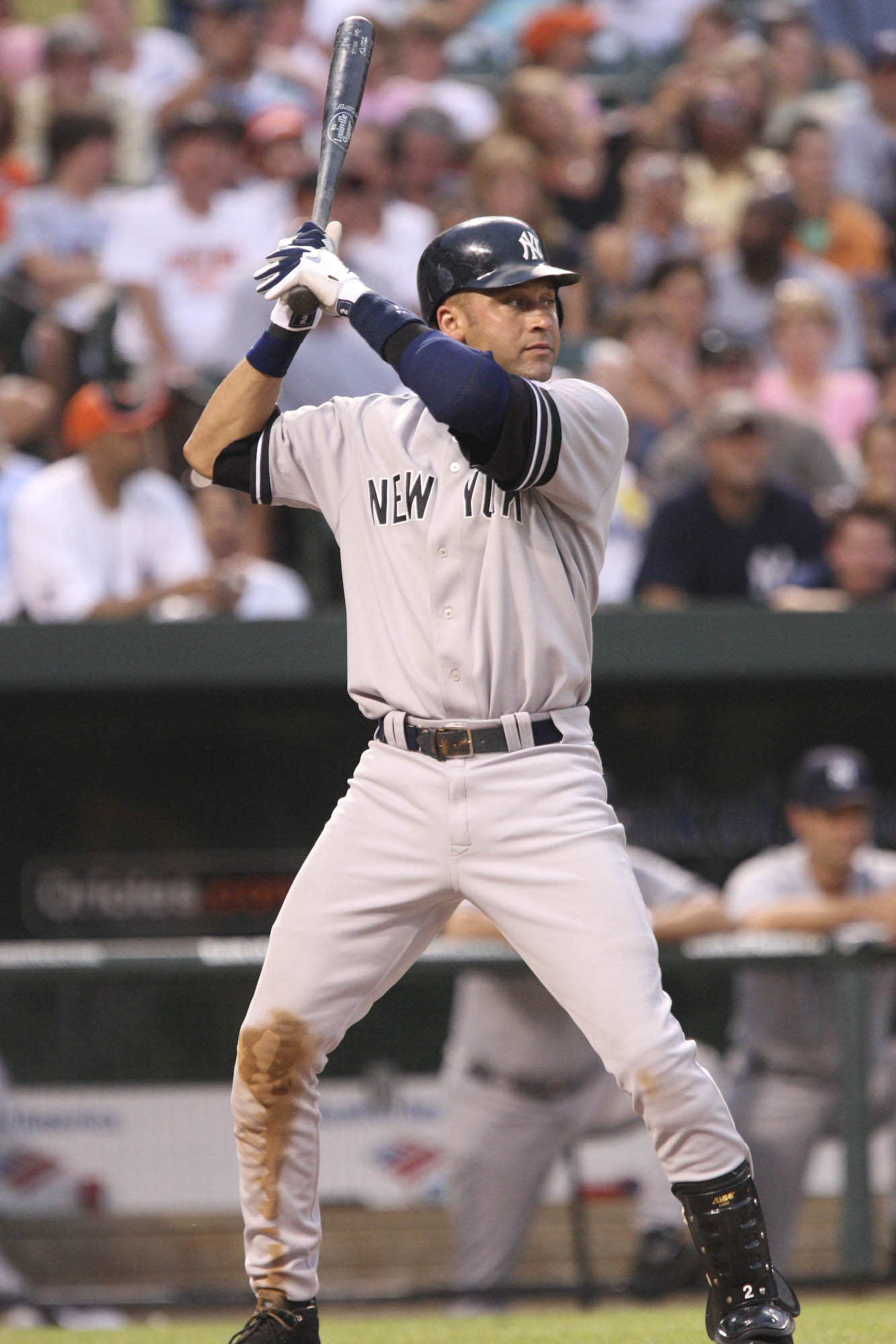 0dee94c6d20 Jeter up to bat during a Yankees game in 2008.