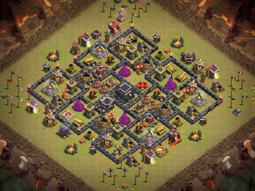 Th9 war base without xbows anti 3 star