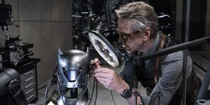 Alfred working in the cowl