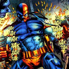 Deathstroke enfrentando a sus demonios en forma de Black Lanterns